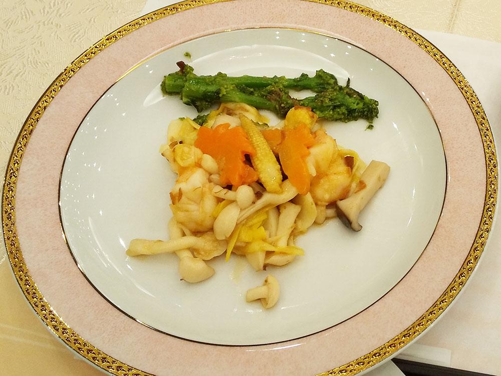 大海老と季節野菜のXO醤炒め